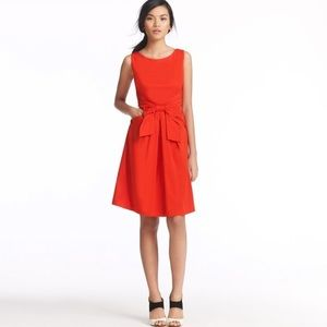 Kate Spade New York 'Jillian' Red Silk Bow Dress 6